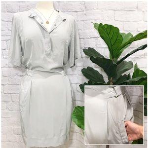DVF gray 100% silk pharo dress